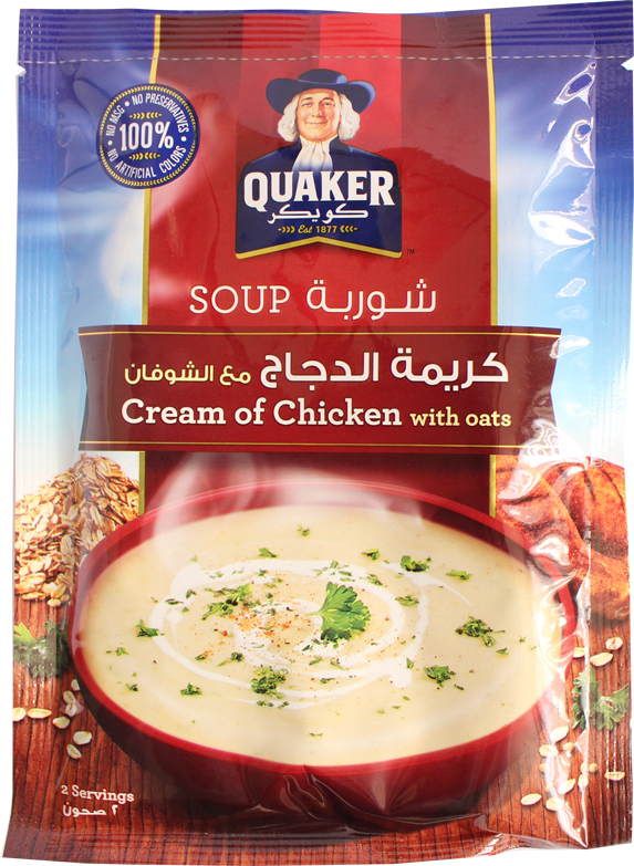 Quaker Soup-Cream Of Chicken With Oats 64g