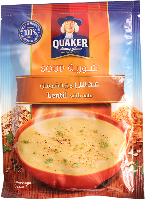 Quaker Soup-Lentil With Oats 63g