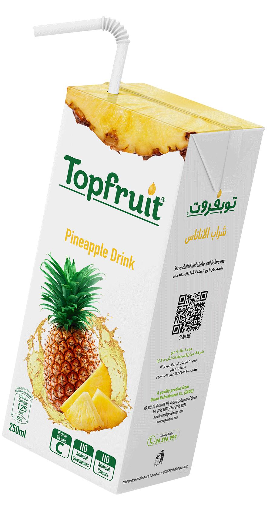 TopFruit Pineapple 250 ml