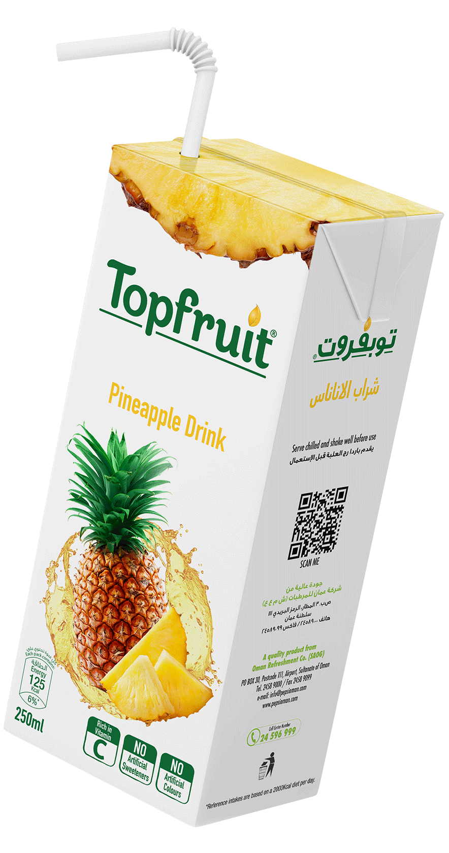 TopFruit Pineapple 250 ml