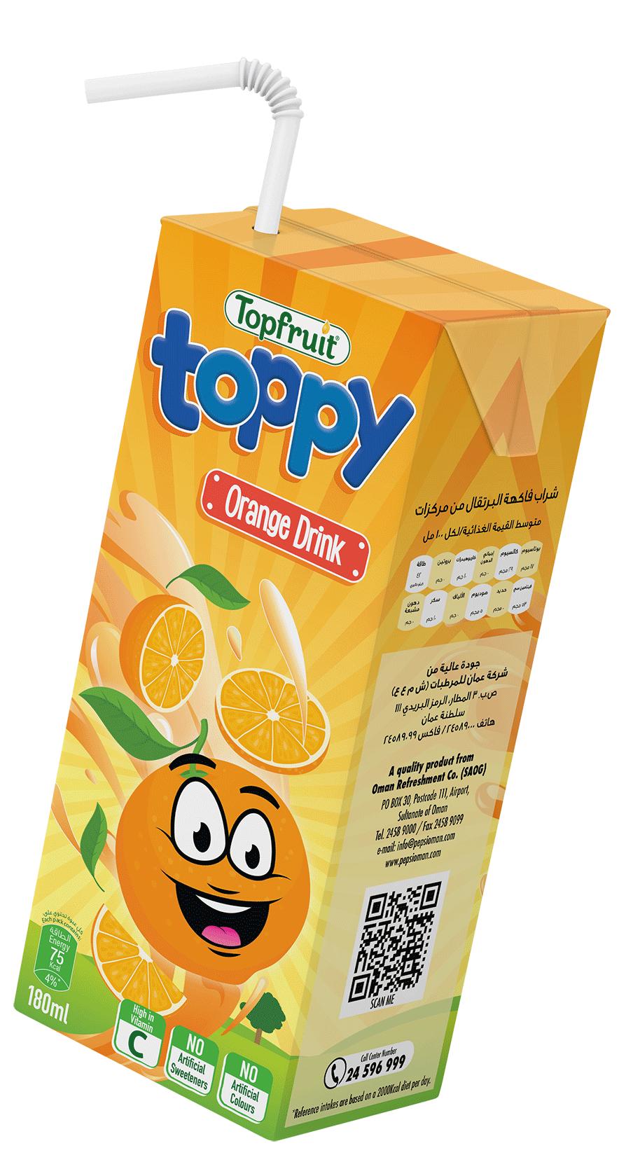 TopFruit Toppy Orange 180 ml
