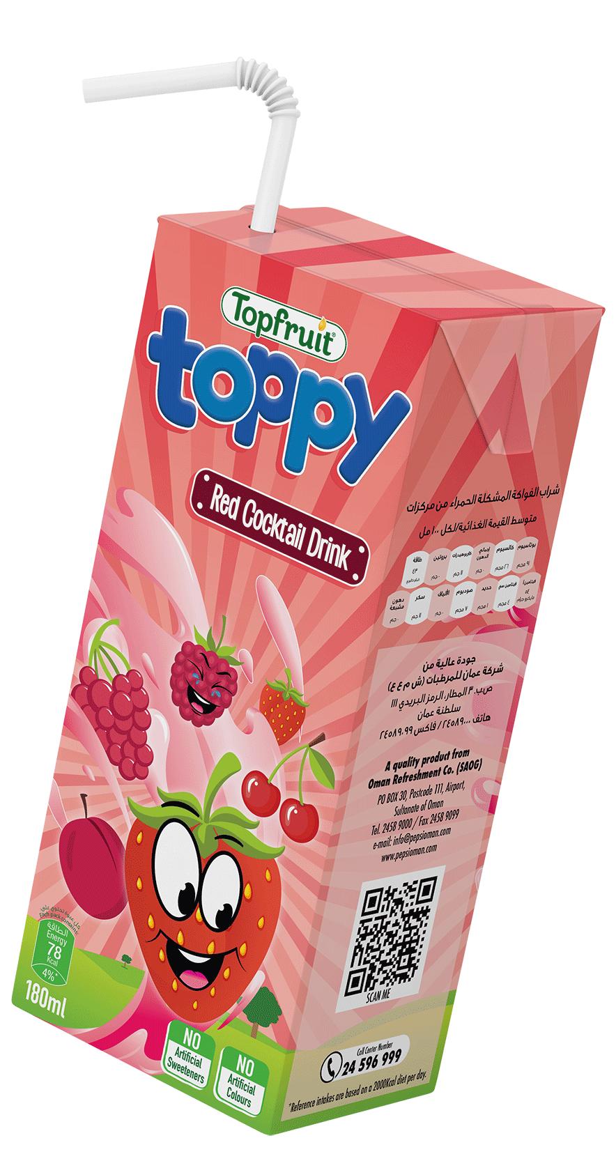 TopFruit Toppy Red Cocktail 180 ml