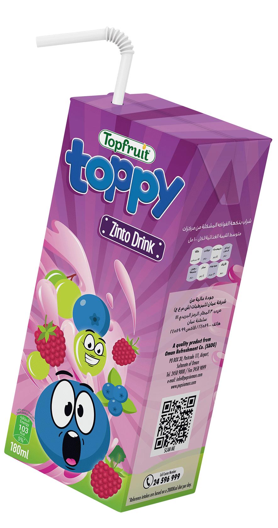 TopFruit Toppy Zinto 180 ml
