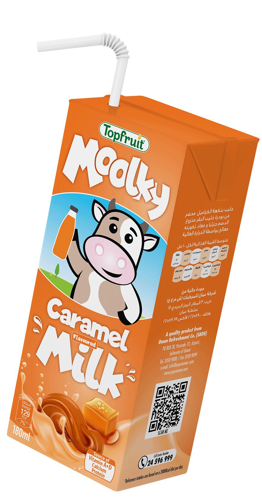 TopFruit Moolky Caramel Milk 180 ml