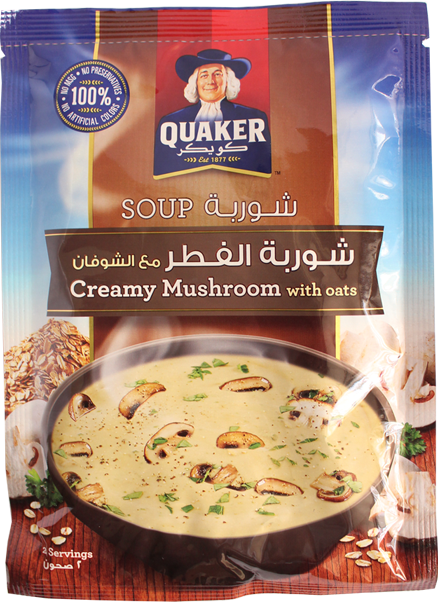 Quaker Soup-Creamy Mushroom With Oats 64g