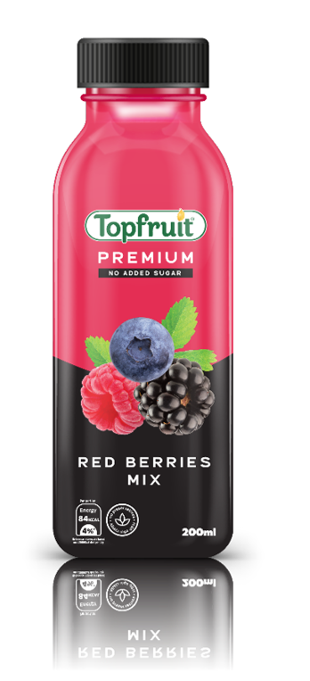 Topfruit Premium Red Berries Mix No Added Sugar 200ml